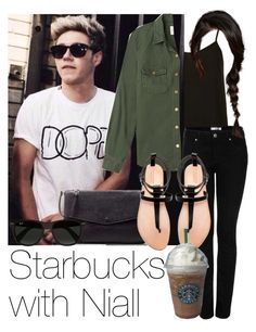 """Starbucks with Niall"" by style-with-one-direction ❤ liked on Polyvore featuring Topshop, Forever 21, Zara, Joes, Ray-Ban, OneDirection, 1d, NiallHoran and niall horan one direction 1d"