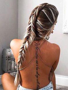 Gorgeous long hair - love that fishtail braid