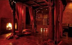 """Doctor Scarlet's room, the Chinese Room- some of the other guests have nicknamed it """"The Opium Den""""."""