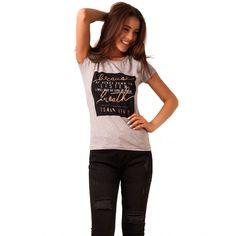 Tricou Cu Imprimeu Because Breath Grey - Tandos Accounting, Breathe, Grey, Casual, Gray, Repose Gray, Random, Casual Outfits