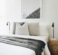 Simple minimal bedroom.