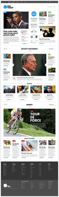 USA Today Concepts #webdesign #layout #grid
