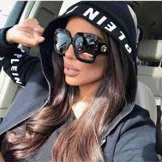 a34f74542d OFIR 2018 Newest Oversized Square Sunglasses Women Luxury Brand Designer  Red Green Sun Glasses Female Vintage