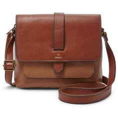Fossil Kinley Small Crossbody Zb6749200 Color: Brown (185 CAD) ❤ liked on Polyvore featuring bags, handbags, shoulder bags, leather crossbody, fossil purses, fossil crossbody, crossbody purse and brown crossbody purse