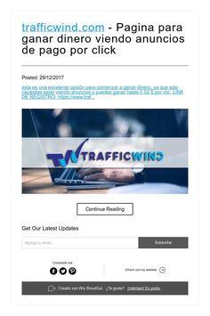 trafficwind.com - Pagina para ganar dinero viendo anuncios de pago por click