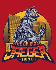 The Original Jaeger T-Shirt $10 Mechagodzilla tee at ShirtPunch today only!