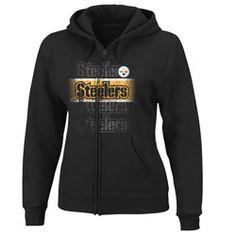 Pittsburgh Steelers Women's Black Nike Tailgater Fleece Crew ...