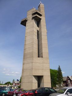 Tower of History - Sault Ste Marie - Michigan.  Panoramic views of international proportion are atop the Tower of History. Step onto the open air decks or glassed observation areas and watch as the huge ships travel the great lakes, through the Soo Locks, St Marys River, and views of Canada.