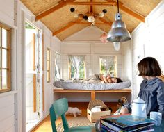 casas de madera para nios xardin pinterest playhouses