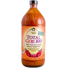 Genesis Today, Total Goji100, 100 % Goji Juice Liquid, 32 fl oz (946.3 ml) - iHerb.com  This product gives me so much energy without the crash. It also has other great health benefits. Use promo code BOW122 for a great deal!