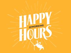 All versions of Happy Hours Coworking logotype. Custom typography for Happy Hours title. The coworking space presentation is available here : http://happyh0urs.com/ Thanks a lot to @Alexis Creuz...
