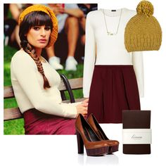 """""""Rachel Berry inspired Fall Outfit"""" by natihasi on Polyvore"""