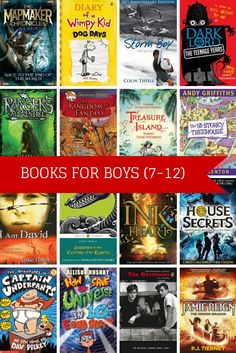A great list of 25 top books for boys (7-12) from children's author A.L. Tait (author of fab new series The Mapmaker Chronicles).