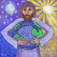 Caroline Street - The Whole World in His Hands Creation Of Earth, Days Of Creation, Gods Creation, Bible Art, Christian Art, His Hands, Figurative Art, Art For Sale, Jesus Christ