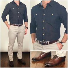 The reason I really like is because they make really high quality everyday essentials for us regular guys that want to dress… Mens Casual Dress Shoes, Mens Dress Outfits, Formal Men Outfit, Men Dress, Men Casual, Mens Fashion Semi Formal, Mens Fashion Wear, Suit Fashion, Fashion Shoes