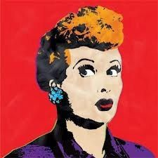 I Love Lucy  Queen of Comedy Glittered T Shirt