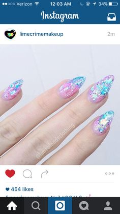 to Make Your Make your with these Glitter Nail Art For Glitter Nails; and Glitter Nail Design for Short Fancy Nails, Love Nails, My Nails, Salon Nails, Gorgeous Nails, Pretty Nails, Nagellack Design, Gel Nagel Design, Glitter Nail Art