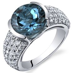 London Blue Topaz 4.50 Carats Ring Sterling Silver Rhodium Nickel Finish Bezel Set Sizes 5 to 9 -- Click on the image for additional details. (This is an Amazon Affiliate link and I receive a commission for the sales)