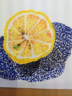 Pointillism experiment