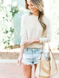 sweater + cut-offs weather
