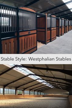 Located in Germany, Westphalian is a clean and modern stable.
