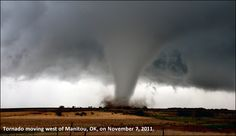 Tornado over the plains. This tornado was one of many spawned during a massive outbreak stretching from eastern Colorado to Oklahoma on May 23-May 24, 2008.