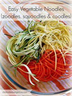 Easy Vegetable Noodles (Zoodles, Squoodles & Coodles!)