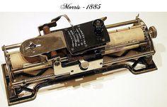 Antique Typewriters - Morris - 1885  - www.remix-numerisation.fr - Rendez vos souvenirs durables ! - Sauvegarde - Transfert - Copie - Digitalisation - Restauration de bande magnétique Audio - MiniDisc - Cassette Audio et Cassette VHS - VHSC - SVHSC - Video8 - Hi8 - Digital8 - MiniDv - Laserdisc - Bobine fil d'acier - Micro-cassette - Digitalisation audio - Elcaset