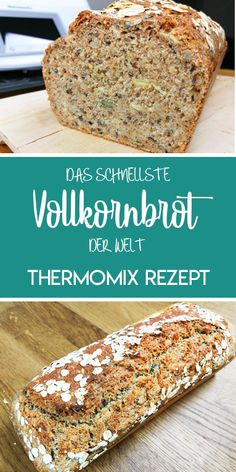thermomix Rezepte This whole grain bread is one of my favorite breads. Of course, the dough is made as always in the Thermomix :-] This bread is made . Bread Recipes, Cake Recipes, Drink Recipes, Whole Grain Bread, Pampered Chef, Bread Baking, Banana Bread, Breakfast Recipes, Food And Drink