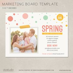 Photography Marketing board  Spring Mini Session  by OtoStudio, $7.50