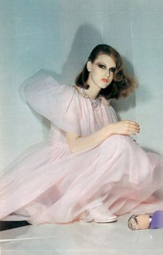 CARRIE NYGREN Photo by Guy Bourdin for Vogue Paris, 1974.