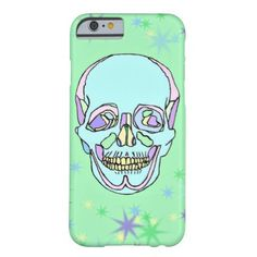 Bright Pastel Skull and Stars iPhone 6 Case #whatjacquisaid #phonecases #iphone6 #skeleton #skull