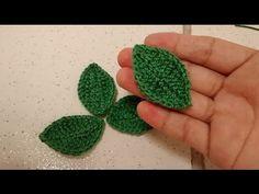 Vídeo aula Folha básica em crochê para aplique