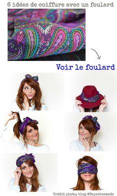 a12319558e25 Plein d idée foulard dans les cheveux comme la blogueuse de mode Dépêches  mode,