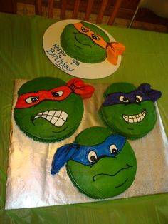 @Erin B B B B B Shearer   Teenage Mutant Ninja Turtles cakes