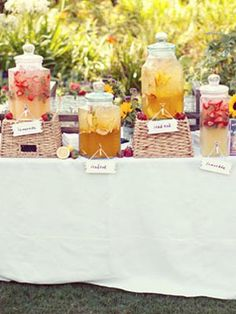 Lovely drink display!