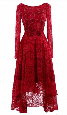Real photo red lace long sleeve in the #prom #promdress #dress #eveningdress #evening #fashion #love #shopping #art #dress #women #mermaid #SEXY #SexyGirl #PromDresses