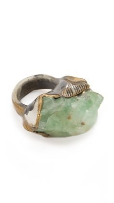 Adina Mills Design Green Calcite Cocktail Ring