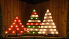 Marquee Christmas Trees I made from pallets! #diy #marquee  #Christmas