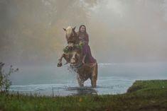 Nebel von Avalon, Pferdefotoshooting Halloween, Haflinger, Steigen, rearing, horsephotography Die Nebel Von Avalon, 2 Colours, Halloween, Spooky Halloween