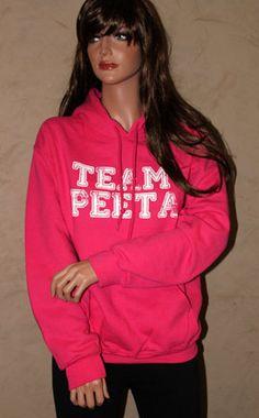 HOODIE SUMMER SALE - Team Peeta Pink Hoodie. $20.00, via Etsy.
