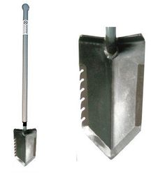 "Lesche Ball Handle Heavy Duty Metal Detecting Shovel with Serrated Blade & 31"" Overall length"