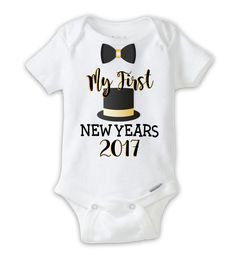 2ff34be10 Baby Boy First New Year Onesie, My First New Years Bodysuit New Years Eve  Shirt