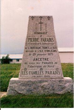 En l`Honneur de Pierre Paradis | Le Québec, une histoire de famille