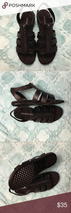 Women's Aerosoles Music Chlass Black Sandals Brand new Aerosoles Black sandals with memory foam bottoms for ultimate comfort! Size 8 in perfect condition! New in box (no lid). AEROSOLES Shoes Sandals