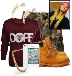 """Dope Tho ......"" by nikkiluv143mb ❤ liked on Polyvore"