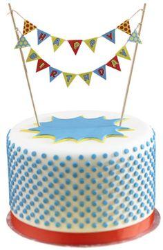 Mini guirlande gâteau Happy Birthday chez Bianca and Family