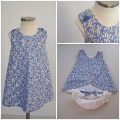 Paso a paso para coserlo. Little Girl Fashion, Little Girl Dresses, Kids Fashion, Girls Dresses, Sewing For Kids, Baby Sewing, Pinafore Pattern, Dress Tutorials, Pinafore Dress