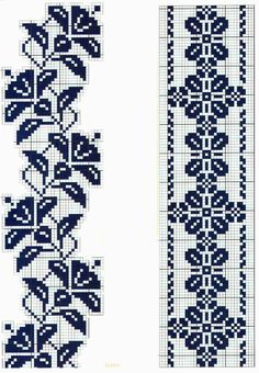 Large collection of free cross stitch charts and graphs: collection of free cross … - Stickerei Ideen Free Cross Stitch Charts, Cross Stitch Borders, Cross Stitch Designs, Cross Stitching, Cross Stitch Embroidery, Cross Stitch Patterns, Crochet Bedspread Pattern, Crochet Curtains, Crochet Chart