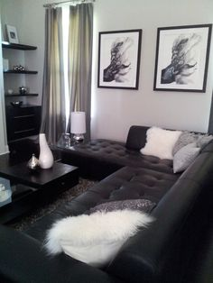 and white new home design ideas living room decor small dining room decorating with luxury leather sofa fur cushion coffee table also beautiful curtain